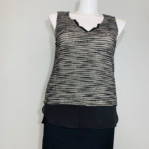SANCTUARY BLACK AND WHITE TOP